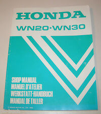 Workshop Manual Honda Water Pump Wn 20 and Wn 30 - Stand 1998