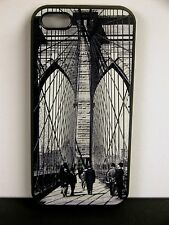 Brooklyn Bridge iPhone 5 Cell Phone Cover Case - View of the bridge around 1940