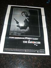 "THE ENFORCER, CLINT EASTWOOD, 1sh Original Movie Poster 30"" x 40"", C6.5 Fine +"