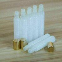 10 10ML White Glass Roller Bottles Glass Ball Gold Cap for Perfume Essential Oil