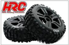 HRC 60816bk bulldog Buggy Neumáticos 1:8 montado NEGRAS llantas (2) 17mm HEX