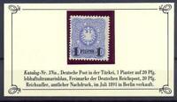 DAP Türkei Nr. 3 Na 1 Piaster Nachdruck 1891 einwandfrei postfrisch (ts18)