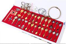 Fairy Tail Lucy Celestial Spirit Gate Keys pendant flag set of 28pcs necklace