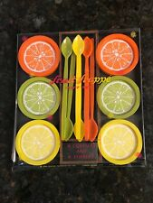 Vintage 1960s 1969 New Old Stock Las Vegas Casino Gessner Citrus Fruit Coasters