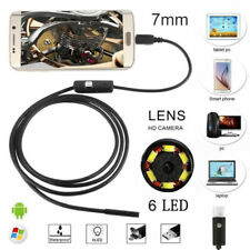 HD USB Endoscope Endoskop Inspektions Camera Kamera 6 LED 7mm für Android Handy