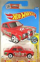 2016 Hot Wheels #185 HW Speed Graphics 10/10 '70 FORD ESCORT RS1600 Red Variant