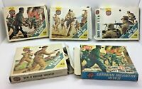 Vintage x 5 Airfix HO/00  Boxed Soldiers German British on Sprues