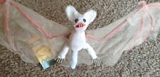 Halloween Flying Albino Bat Hanging Decoration Horror Fun Scary Party Dec 60cms