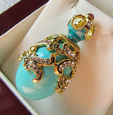 SALE !  OUTSTANDING PENDANT SILVER 925 with GENUINE TURQUOISE and ENAMEL