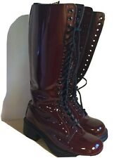 Dr. Martens Boots 9730 Patent Leather 20 eyelets W10 M9 EU42 UK8 Made In England