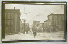 Us Town Street View Rppc Antique Real Photo Postcard