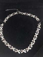 Edición limitada de cristal de Swarovski Collar Mariposa Cristal Collar De Perlas