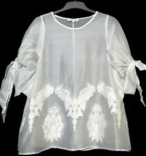 Tahitilti silk embroidered flare top