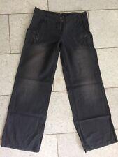 Tom Tailor Denim Jeans Weites Bein Knitter destroyed wash Anthrazit Gr. 29 (38)
