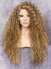 Full and Sexy Wig with side part and spiral wavy layered Blonde brown mix 2216