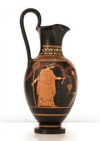 Ancient Greek Pottery Replica - Red-Figure Vase with Dionysus Handmade in Greece