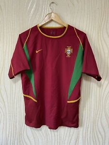 PORTUGAL 2002 2004 HOME FOOTBALL SHIRT JERSEY NIKE VINTAGE NUNO GOMES