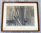 Mid Century Modern Framed Hans Hartung Limited Edition Etching Hand Signed 1960s