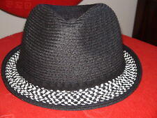 August Hat Company Ladies Hat Black Solid 75% paper One Size