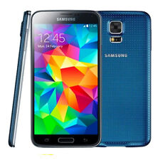 NEW 5.1'' Samsung Galaxy S5 16GB Android Smart Cell Phone (GSM Unlocked) -Blue