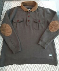 Barbour Mens Shooting Hunting Sweater Fishermans Jumper Size XL