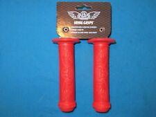 "BMX Bicycle SE Red Wing Handlebar Grips 5-1/2"" Long fits 7/8"" Handlebar - New"