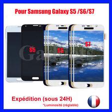 Ecran Vitre Tactile Pour Samsung Galaxy S5/S6/S7 LCD Chassis Blanc/Noir/Bleu