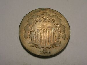 1870 Shield Nickel (Attractive)