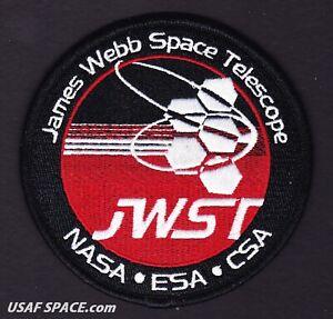 Authentic JAMES WEBB SPACE TELESCOPE -JWST- Ariane 5 -NASA ESA CSA Mission PATCH