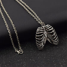 Anatomical inspired heart necklace Human Rib Cage Body Chest Love Pendant Gift