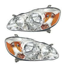05-07 Toyota Corolla CE/LE Headlight Assembly Driver Passenger Side Pair