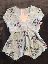 GIRLS TOP by PERSONAL IDENTITY size 5 ~ MINT GREEN ~ BLUE GREEN PINK STARS ~ NEW
