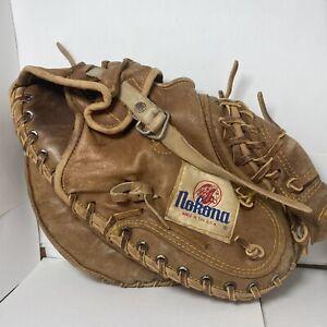 Vintage Nokona Baseball Catchers Mitt Glove Top Grain Kangaroo USA Made CM225K
