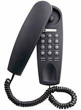Telephone wall mountable Single Phone Black Corded
