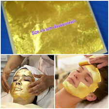 50 Sheets 4x4 cm 24K 100% Pure Gold Leaf Facial Mark Treatment for Youthful face