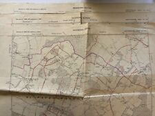 3 Provisional Edition Maps 1946&47 - Hertfordshire Sheets XX, XII & XIII