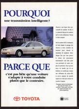 1996 TOYOTA Camry Sedan Vintage Original Print AD White French Canada Montreal