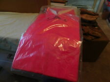 Vtg Still in Package Acrylic by Campus Red Shirt made in Usa Large