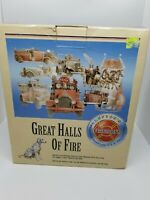 Vintage Lefton 1994 Fire Station No. 6 Seattle WA Great Hall's Of Fire New Rare!