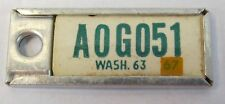1963 WASHINGTON STATE miniature DAV license plate keychain key chain