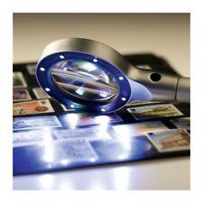 DEL Lumineux Loupe Lampe de bureau flexible Table Loupe 15122-2B Home Verre Grande Lentille