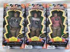 The Three Stooges Little Pigskins Limited Edition Exclusive Doll Set 1996 Vhtf