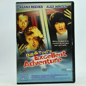 Bill & Ted's Excellent Adventure Keanu Reeves DVD GC Free Tracked Post