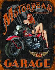 Motorhead Garage #1628 Vintage reproduction, Garage, Man Cave Metal/Tin