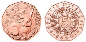 #RM# 5 EURO COMMEMORATIVE AUTRICHE 2018 - BUNNY