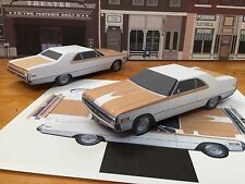 "Papercraft 1970 Chrysler 300 Hurst coupe ""E Z U-build"" Paper Toy Model Car"