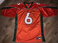 Santana Moss Autographed Signed Miami Hurricanes Jersey JSA COA Jets Redskins