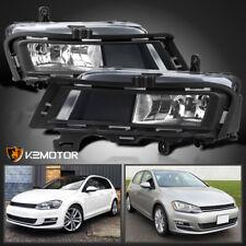 For 2015-2017 VW Volkswagen Golf MK7 Clear Bumper Driving Fog Lights+H11 Bulbs