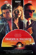 TEQUILA SUNRISE (1988) ORIGINAL INTERNATIONAL SPANISH MOVIE POSTER  -   ROLLED