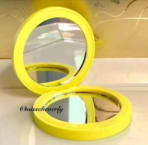 DRUNK ELEPHANT Magnifying Mirror Compact YELLOW w Logo ~ Collectible ~ BRAND NEW